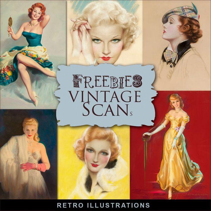 New Freebies Kit of Retro Illustrations