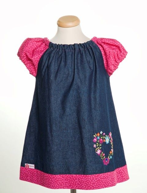 Handmade embroidery girl dress