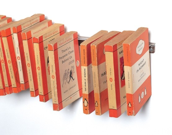 Sticklebook invisible bookshelf by Neil Barron from Gusto