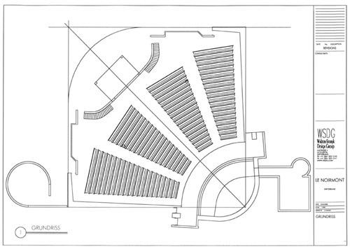Presentation Drawing, Church Le Noirmont  Le Noirmont, Jura, Switzerland