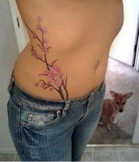 Tree Tattoo On Hip