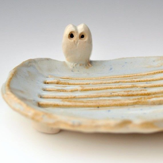 owl soap dish ceramicLittle Owls, Owls Pottery, Ceramics Handmade, Dishes Ceramics, Owls Soaps, Pottery Dishes, Handmade Owls, Ceramics Owls, Soaps Dishes