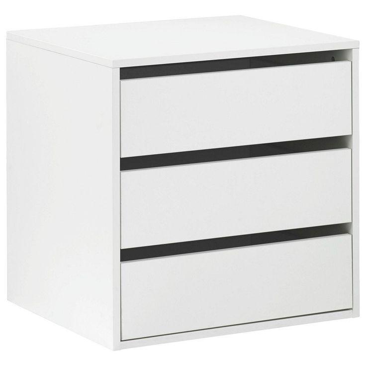 Cassettiera interna armadio 3 cassetti accessorio legno bianco CT9301 L58h59p51: Amazon.it: Casa e cucina