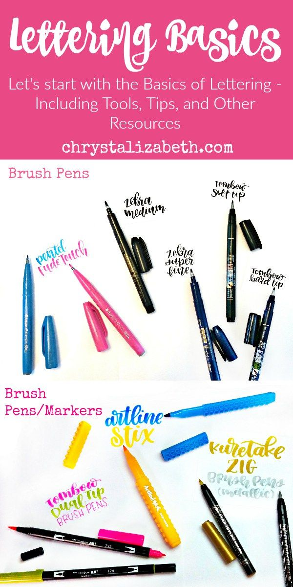 Let's start with the Basics of Lettering | Going over brush pens/markers, paper, and other tips | - www.chrystalizabeth.com