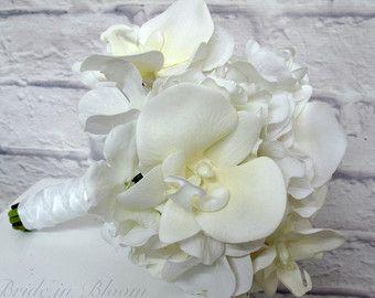 Hochzeit blumenstrauss Brautstrauss Calla Lilien Dahlie Orange – Wedding Bouquet