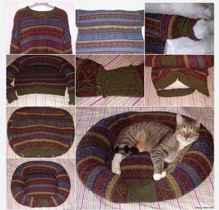 17 mejores ideas sobre camas para mascotas caseras en - Camas para gatos ...