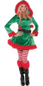 Adult Green Sassy Elf Costume