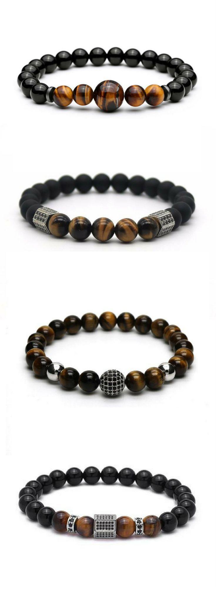 Mens Beaded Bracelets. Sale & Free worldwide shipping.
