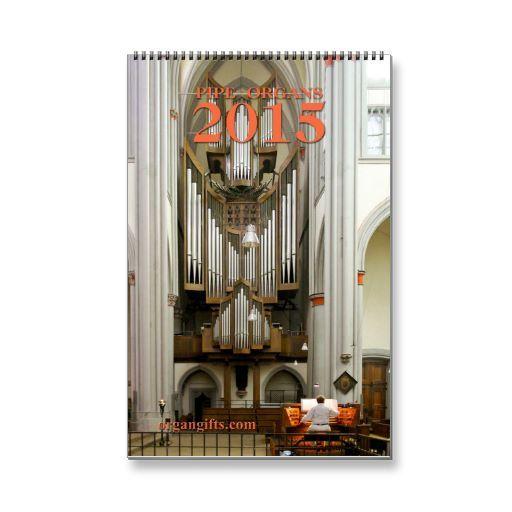 Pipe organ calendar E for 2015