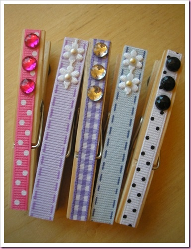 Perfect idea for the clothespins I use to hold up things for pics!