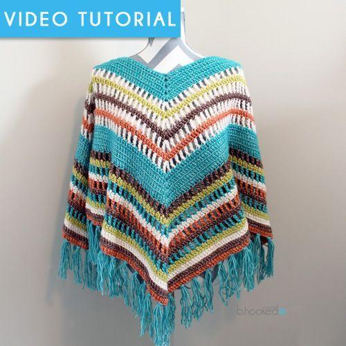 Fall Crochet Poncho By Brittany - Free Crochet Pattern - (bhookedcrochet)