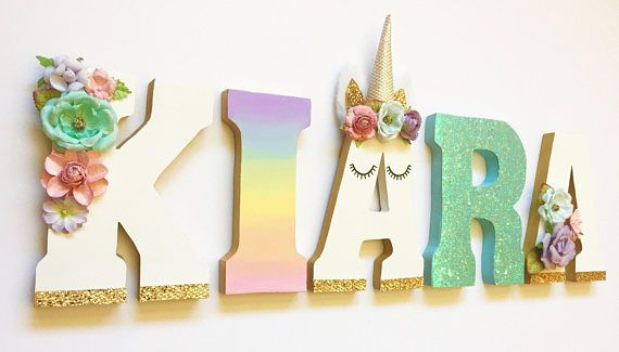 Unicorn Themed Letters
