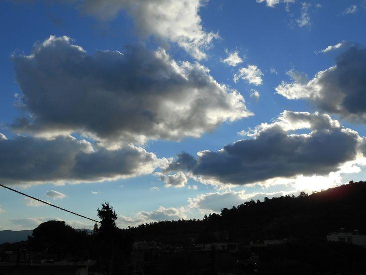 Απόγευμα στη Ψίνθο (07/01/2014) παγωνιά.