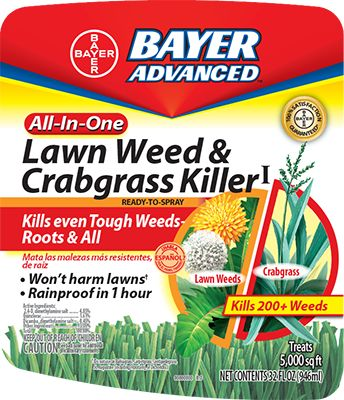 Bayer is amazing. They have products to get rid of your personal headache, as well as the weeds and crabgrass that caused it! It is rainproof in one hour; kills over 200 of the most common broadleaf weeds, such as Dandelions and Clover; and controls grassy weeds like Crabgrass. #bayer #horticulture #weeds #crabgrass #lawncare #landscapecare #landscaping