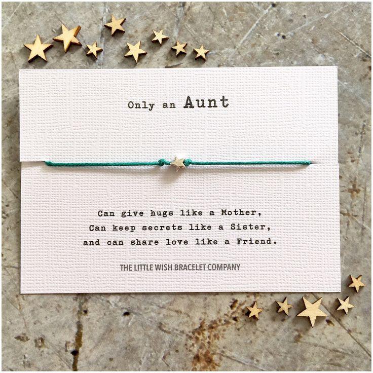 AUNT - Wish Bracelet Gift, Auntie, Aunty Add a Name & Custom options by Coastalloveuk on Etsy https://www.etsy.com/uk/listing/515425128/aunt-wish-bracelet-gift-auntie-aunty-add