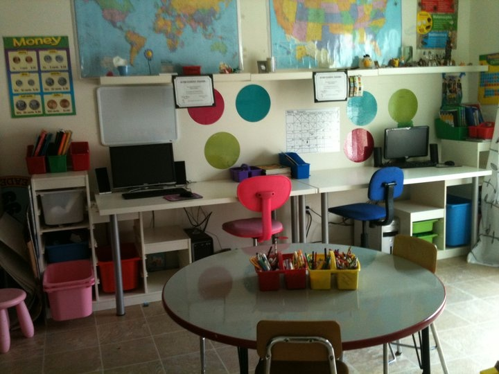 our homeschool room  www.cagefreemonkeys.blogspot.com