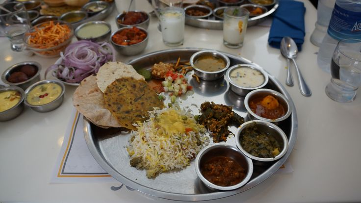 Gujarati thali at Samrat restaurant