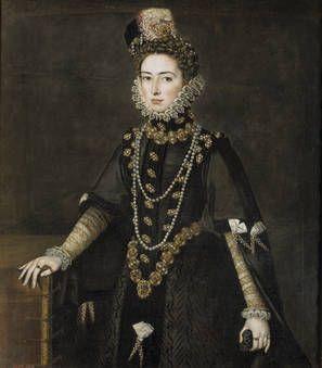 Catalina Micaela de Austria, duquesa de Saboya. Alonso Sánchez Coello. 1584-1585