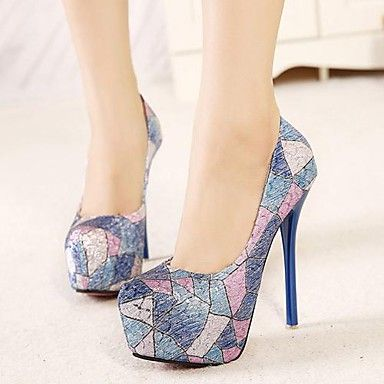 Women's Shoes Round Toe Stiletto Heel Pumps Dress Shoes More Colors available – USD $ 39.99