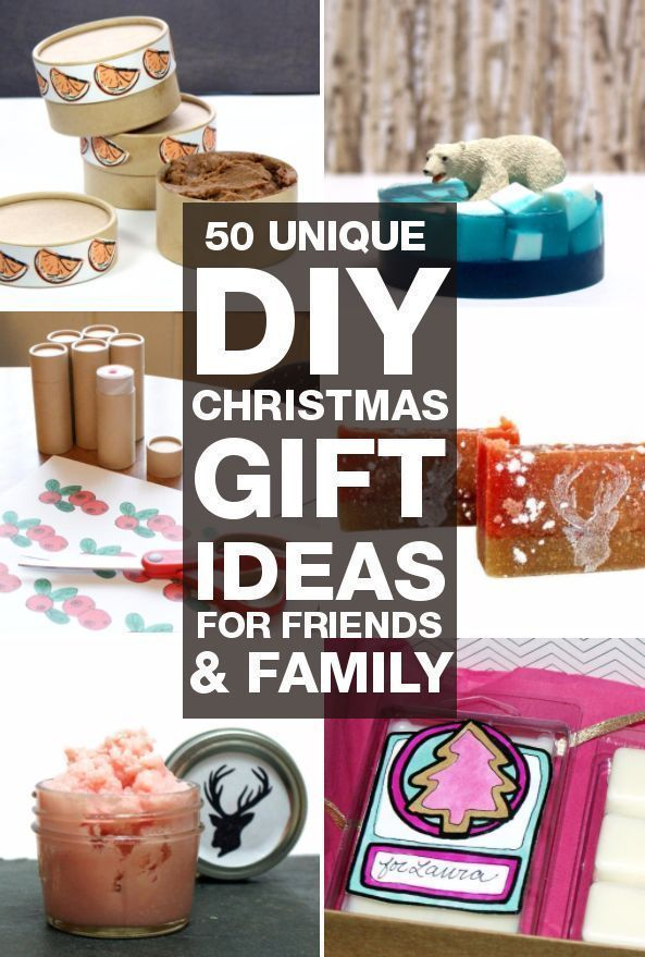DIY Christmas gifts you can make for your friends and family! 50 unique DIY  Christmas gift ideas perfect for holiday gifting for everyone on your list! - DIY Christmas Gifts: 50 Unique DIY Christmas Gifts You Can Make For
