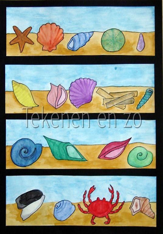 Benodigdheden: wit tekenpapier op A4 formaat aquarelpotloden of waterverf penselen en water zwart papier schaar en lijm zwarte fineliner Na ...