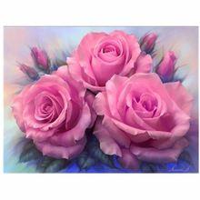 алмазная живопись поделки алмазов картина розовая роза 40 * 30 см ручной алмазов resinstone квадратный алмаз живопись декоративная алмазная вышивка розовые розы bb1211(China (Mainland))