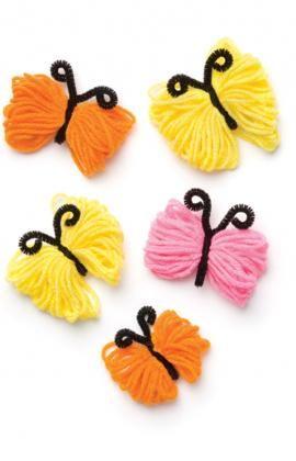 Yarn Butterflies