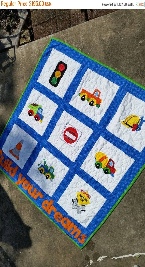 Baby Boy Bedding, Construction Bedding Toddler Cot Birthday Dump Truck Cement Truck Chevron Nursery Boy Birthday Vehicles Signs