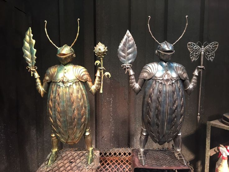 Vladimir Kush - Here are two of my Knight Beetle sculptures,