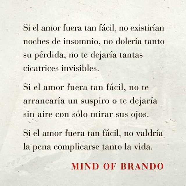 〽️ Si el amor fuera tan fácil... Mind of Brando