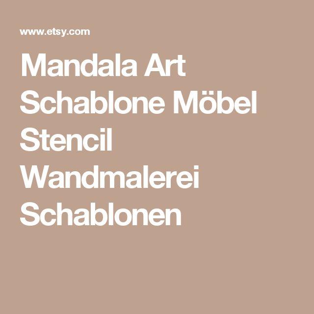 mandala style stencil furniture stencil wall painting stencils diy pinterest. Black Bedroom Furniture Sets. Home Design Ideas