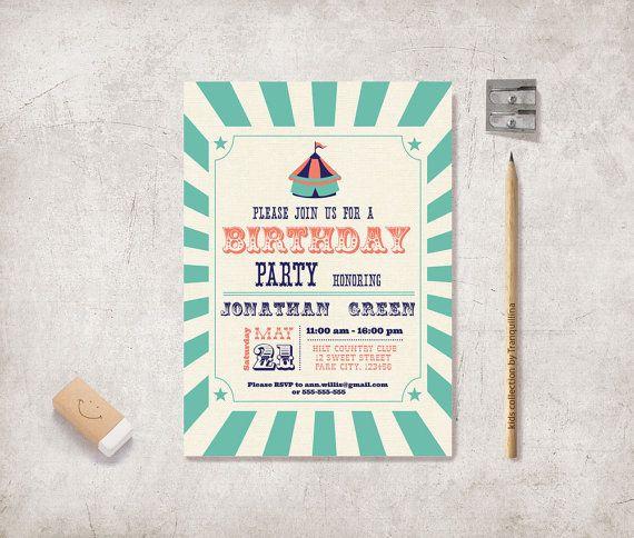 best 25+ carnival birthday invitations ideas on pinterest, Birthday invitations