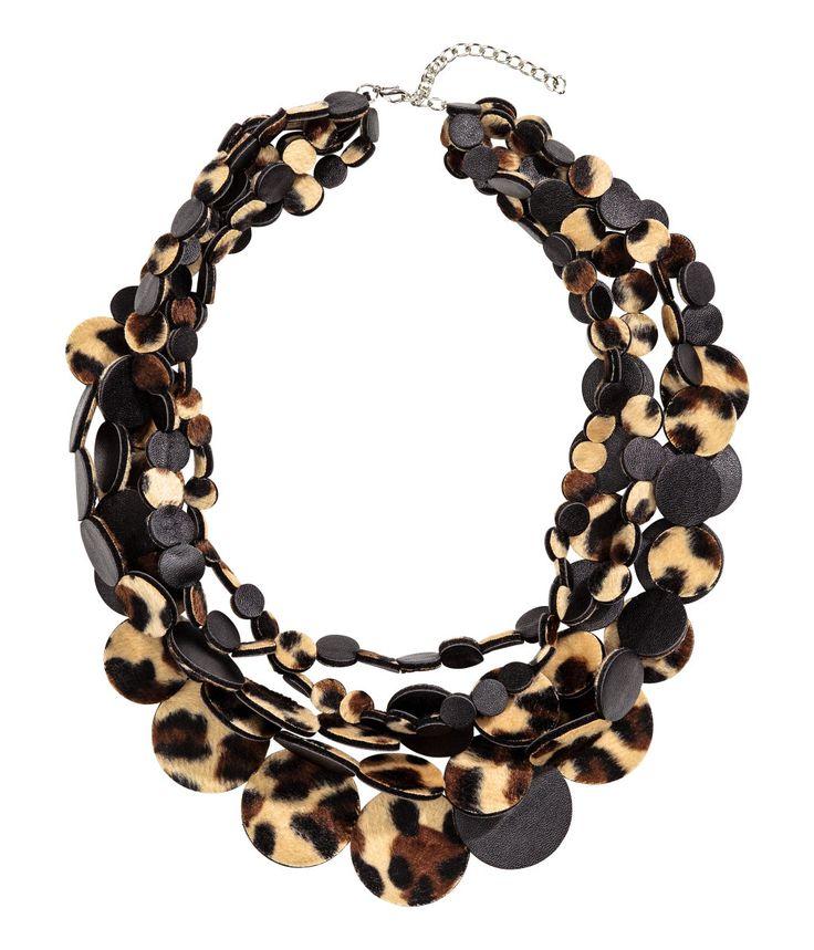Flerradet halskjede | Leopardmønstret | Dame | H&M NO