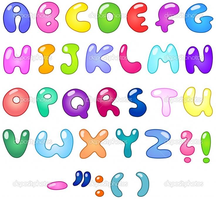 Cool bubble letters