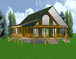 24x40 Country Classic Cabin w/Loft Plans Package, Blueprints ...