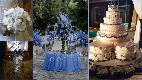 Abiti sposa Napoli. Avorio e celeste avion per il wedding day di Ester in un'atmosfera natural chic che anticipa le tendenze nozze 2015.