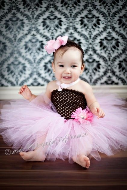 Beautiful Fluffy Pink and Brown Crochet Tutu by ILuvUTutuMuch, $26.99