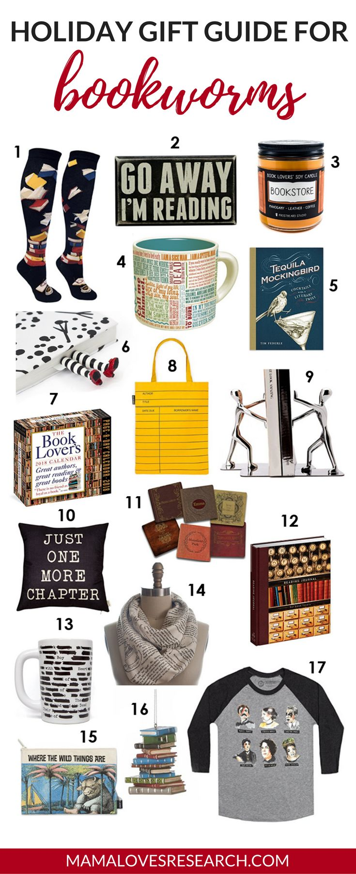 Holiday Gift Guide for Bookworms - Mama Loves Research