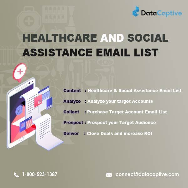 Healthcare And Social Assistance Email List Email List Health Care Marketing Data