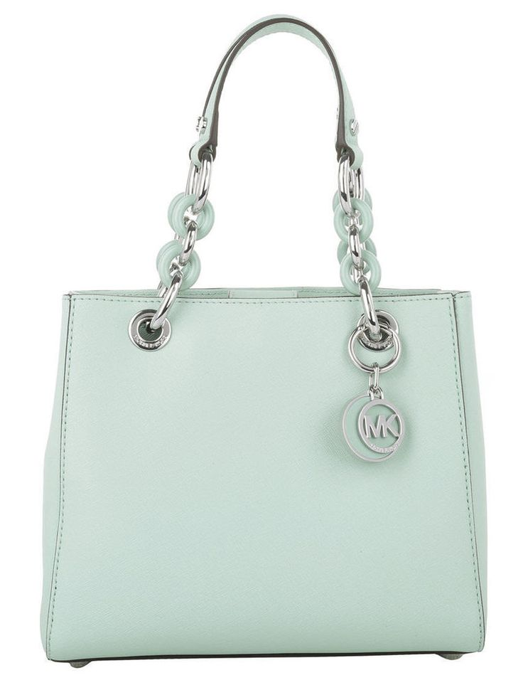 NWT Michael Kors Saffiano Leather Small Cynthia NS Satchel Purse ~Celadon