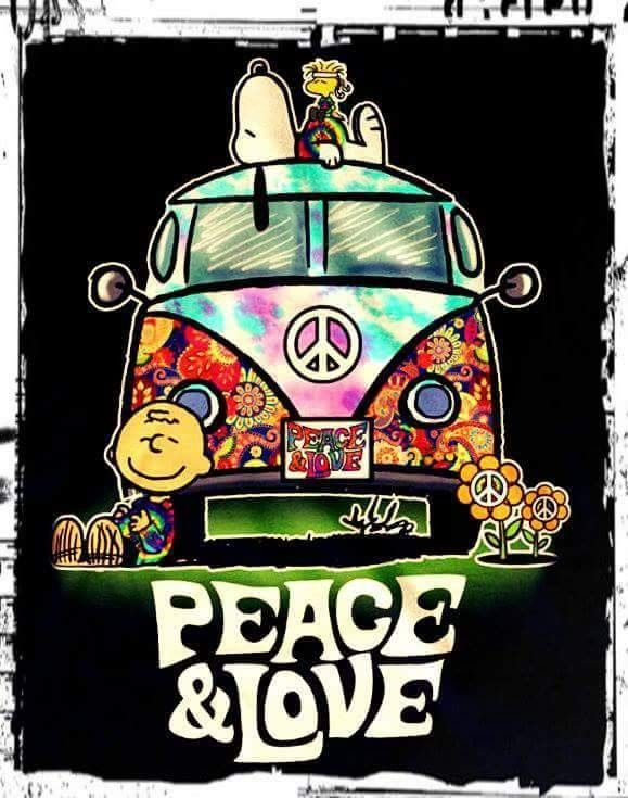 Hippie Love Fest ☮️ Can we come Snoopy? Love you Ashlie!