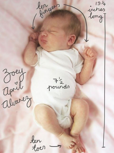 Such a sweet, simple birth announcement idea!