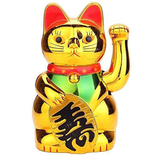 chat chinois porte bonheur bras mobile