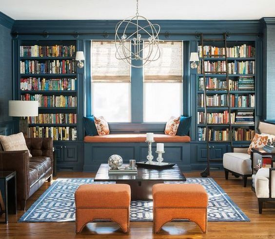 USED.  Private Home Library Bookcase Design Ideas