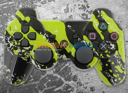 We have a brand new ps3 custom controller in our hydro dipping section. Our Splash Green Playstation 3 rapid fire modded controller features a clear coat on top of a green hydro dipped pattern. Available immediately along with your choice of rapidfire. Order today! Here is the link for the video: http://www.youtube.com/watch?v=63wq4yX4Tss=share