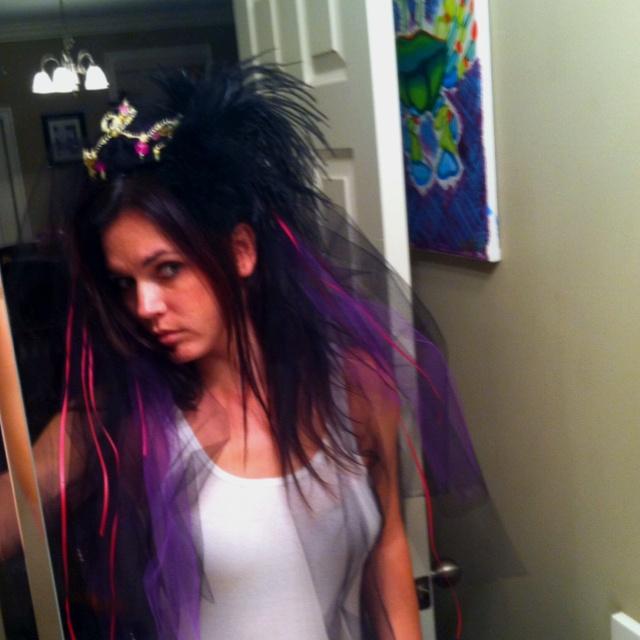 Bachelorette party veil by Corrina