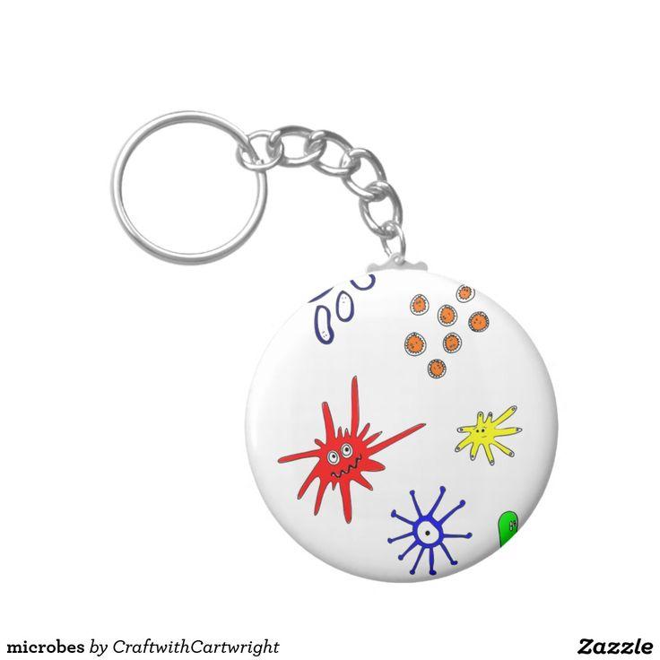 microbes basic round button key ring