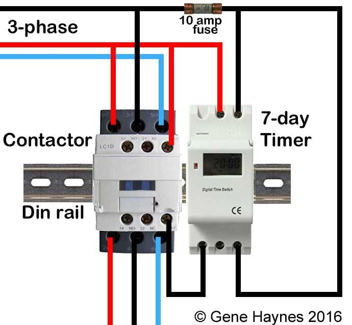 How To Wire Contactor Block In 2020 Timer Electrical Diagram Circuit