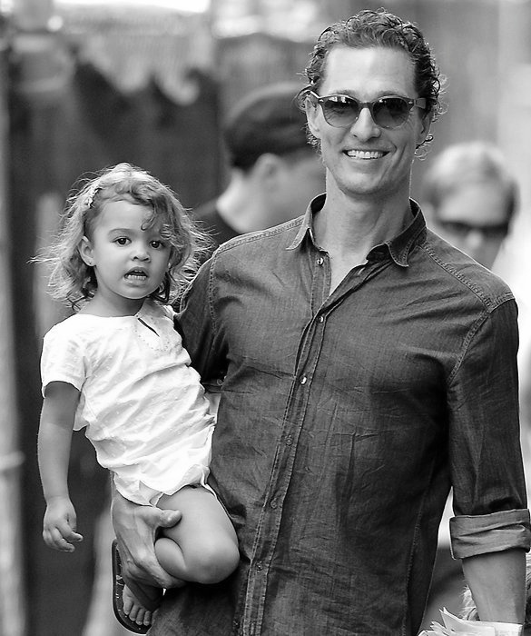 Matthew McConaughey There's just something about a hot guy taking care of his little girl.