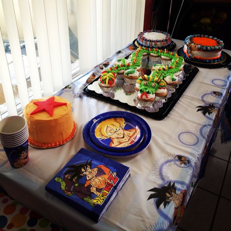 Dragon Ball Z Theme Birthday Party With Deco